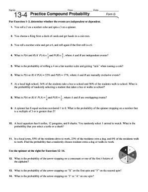 Compound Events Probability Worksheet by Pictures Compound Events Worksheet Getadating