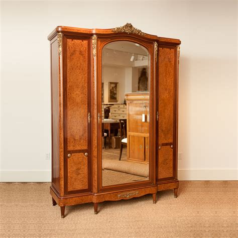 mirrored armoire french antique armoire with mirrored center panel bonnin