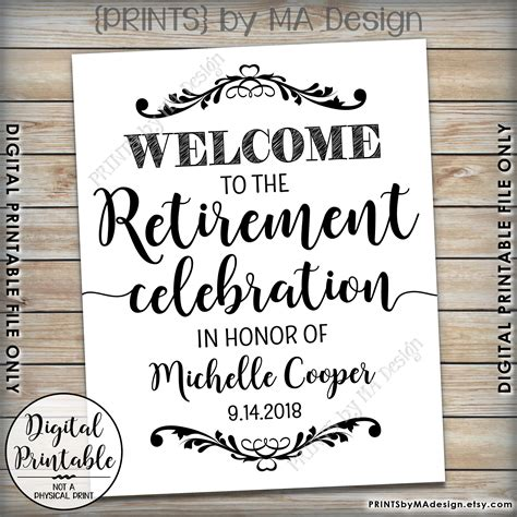 retirement sign welcome to the retirement