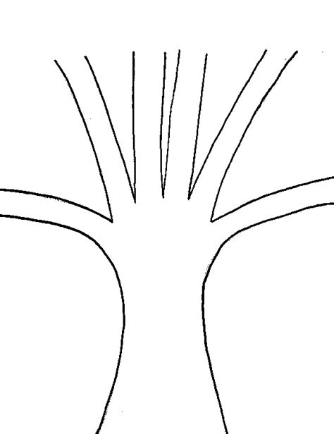 free tree trunk with no leaves coloring pages