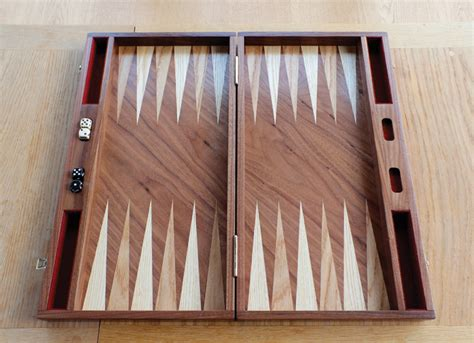 Handmade Backgammon Board - oak backgammon board hugh miller