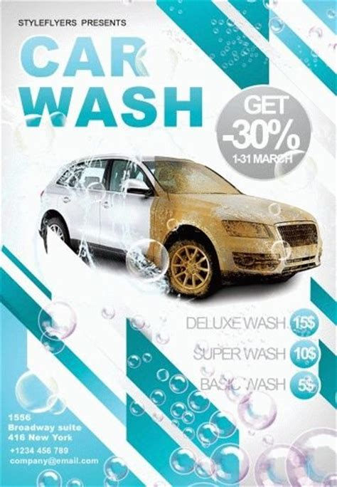 Car Wash Psd Flyer Template 6214 Styleflyers Car Wash Poster Template