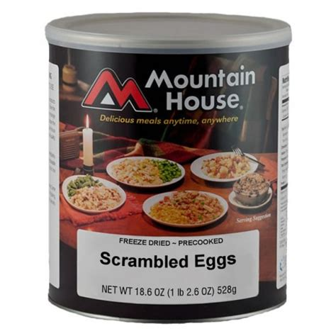 Mountain House Food Shelf by Mountain House Scrambled Eggs In 10 Can