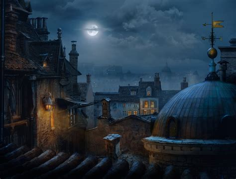 Posters For Bedroom artstation across the rooftops night iurie cojocari