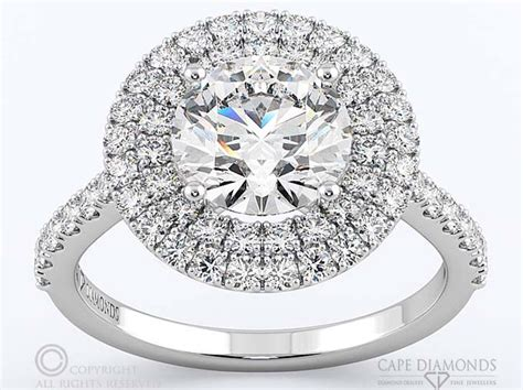 47 double halo diamond engagement ring south africa