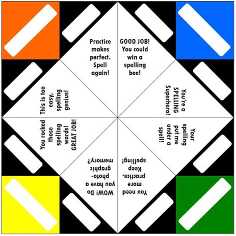 what to write in a paper fortune teller relentlessly deceptively educational top 10 favorite