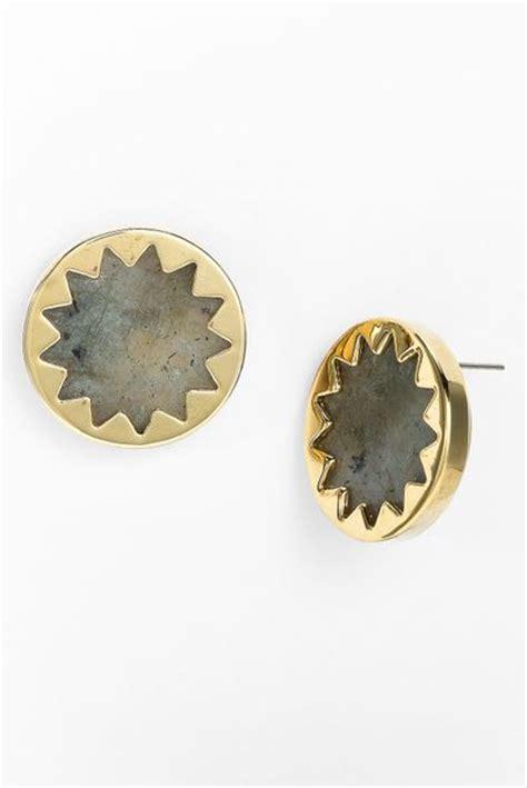 house of harlow 1960 sunburst stud earrings in gold