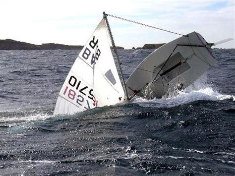 sailboat accident laser crash sailing pinterest