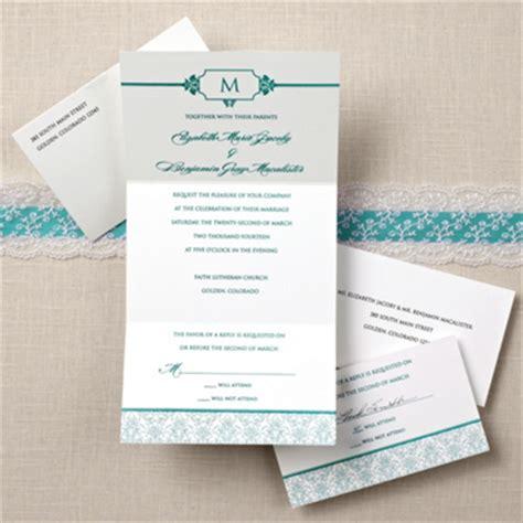 damask seal and send wedding invitation wedding invitation