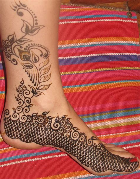 henna style foot tattoo designs henna design