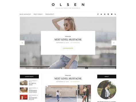 theme with page templates 30 best fashion magazine themes 2017