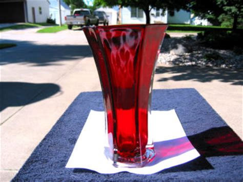 Hoosier Glass Vase 4040 by Hoosier Ruby Glass Vase 4040 Antique Price