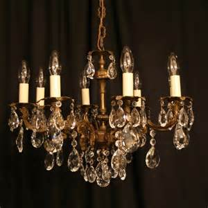 italian antique chandeliers an italian gilded cast brass 8 light antique chandelier