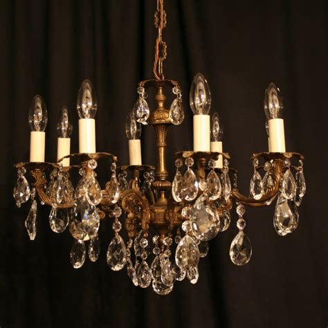 vintage chandelier an italian gilded cast brass 8 light antique chandelier 255473 sellingantiques co uk