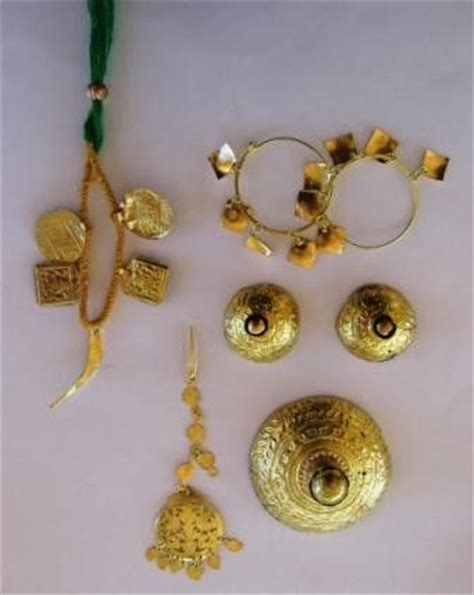 jewelry design of punjab giddha dance set for girls saggi phul jewelry sj54 for