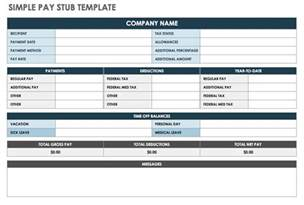Pay Stub Template Excel by Free Pay Stub Templates Smartsheet