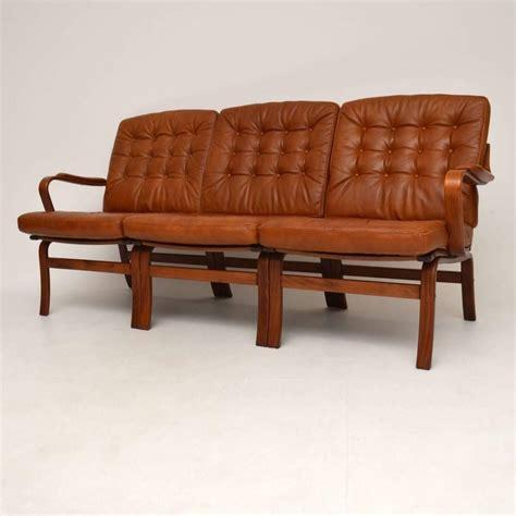 retro sofa for sale danish retro leather bentwood sofa vintage 1970s for sale