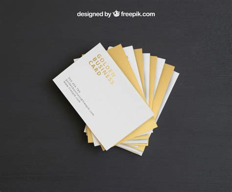 Golden Business Card Template by Golden Business Card Mock Up Template Psd File Free