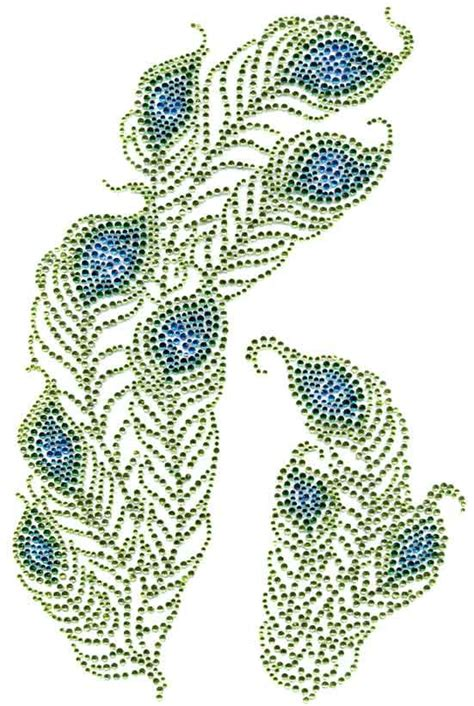String Peacock Pattern - 116 best rhinestone designs images on