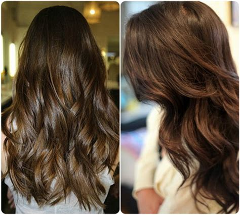 trend hair color 2015 chocolate color with soft copper highlights for 2015 hair