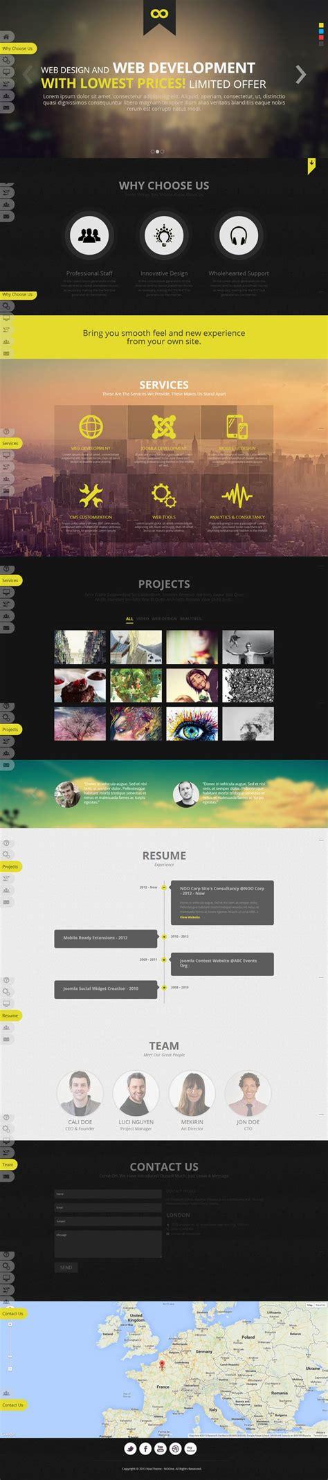 website layout ui noo noone joomla 3 onepage portfolio template on