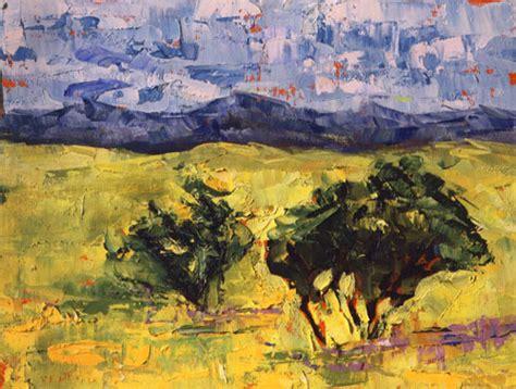 Landscape Paintings Usa Palette Knife Painters Quot Prairie View Quot Original Palette