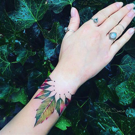 nature themed floral tattoos inspired by the changing seasons