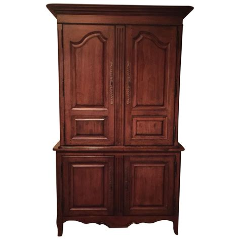 Large Wood Armoire Traditional Large Cherry Wood Armoire Chairish