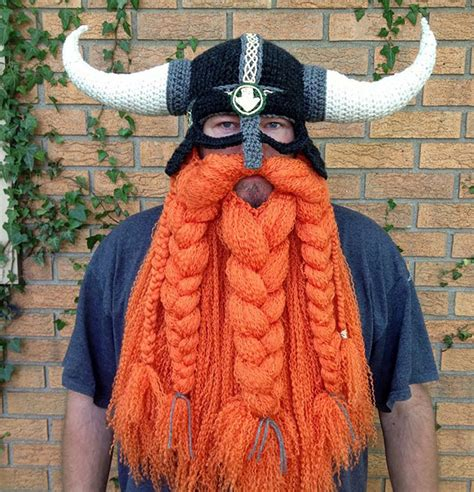 knit viking hat with beard pattern 27 creative and winter hats to keep you warm