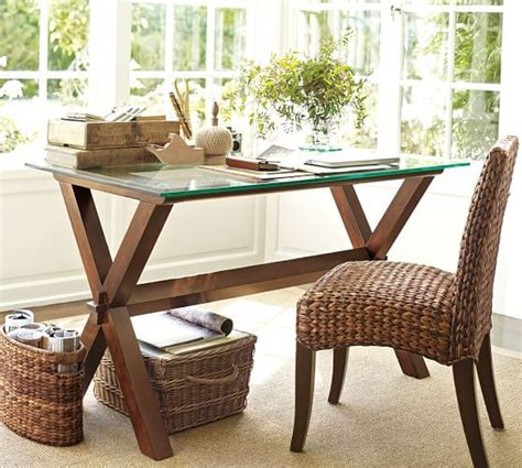 pottery barn glass desk 39 best office space images on office