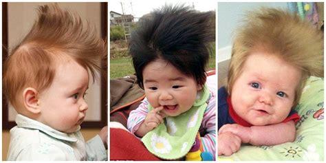 membuat rambut anak lebat bayi bayi dan tren mohawk mini dalam kompetisi foto rambut