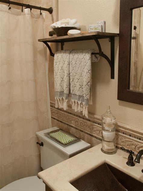 rustic bathroom shelving hgtv