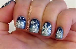oh look at my nails snowflake nail art