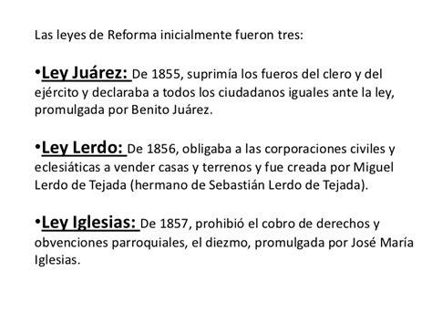 las leyes de la 8490326398 leyes de reforma
