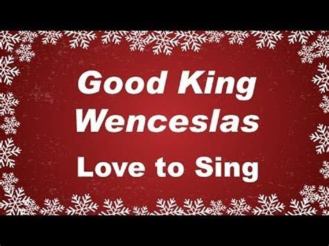 christmas carol lyrics good king wenceslas ichild 62 best images about kids christmas carols on pinterest