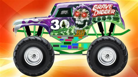 monster truck videos please monster truck grave digger youtube