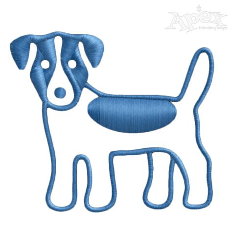 embroidery design dog dachshund dog embroidery design
