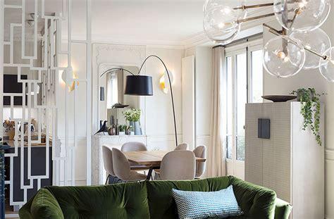 paris apartment green velvet sofa ideas design