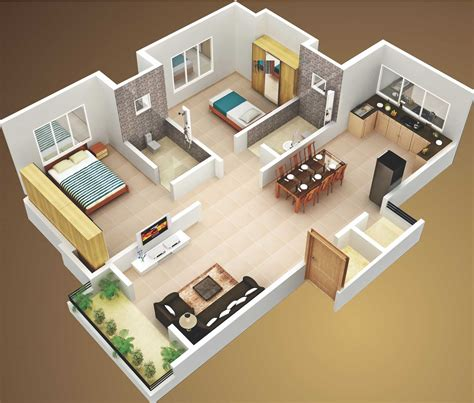 simple 2 bedroom house plans attractive simple house design plans 3d 2 bedrooms ideas