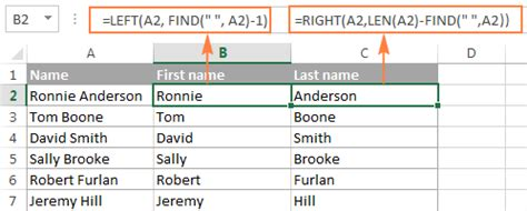 Find Name Pattern Exle | excel find and search functions with formula exles