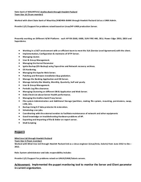 oracle production support resume resume ideas