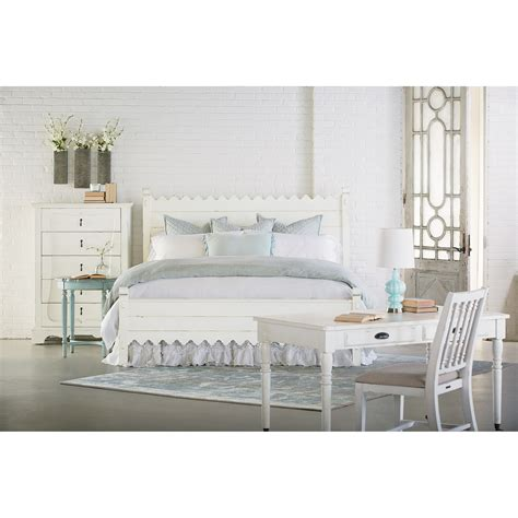 magnolia home furniture queen bed with scallop trimming by magnolia home by joanna