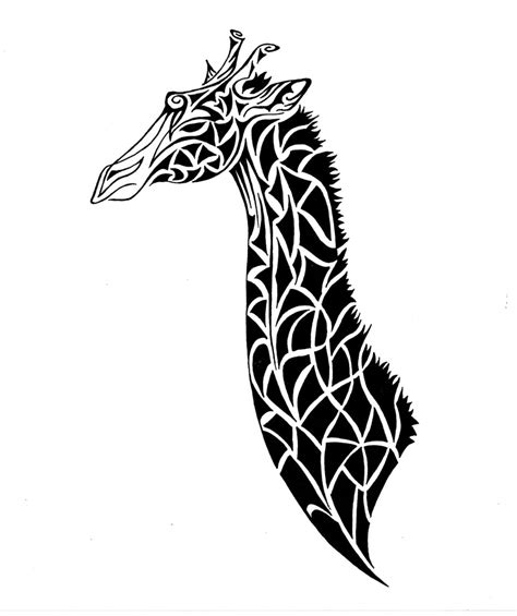 pattern giraffe drawing giraffe line drawing clipart best