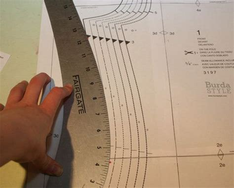 pattern making grading ruler adjust patterns for mixed sizes curves patterns and