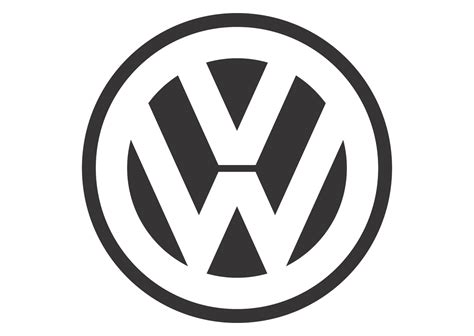 Volkswagen Black White Mode Logo Vector Format Cdr Ai