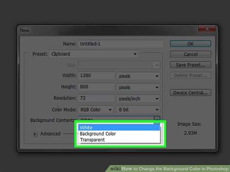 photoshop change background color 4 ways to change the background color in photoshop wikihow