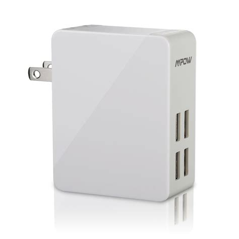 Sale Charger Iphone 4 Usb Power Adapter mpow 25w 5a 4 port ultra portable usb wall charger travel power adapter sale 7 99 buyvia