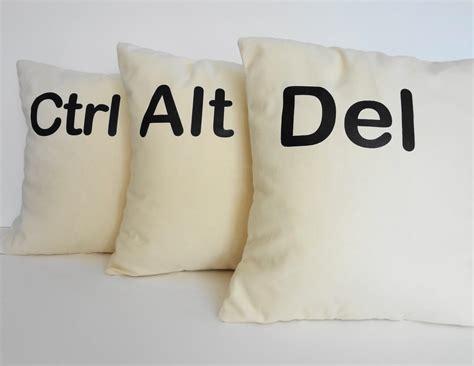 Alt Delete Pillows by Ctrl Alt Throw Pillow Covers Geekery Decorative