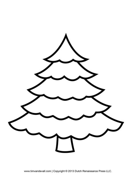 Download Coloring Pages Plain Christmas Tree Coloring Plain Tree Coloring Pages