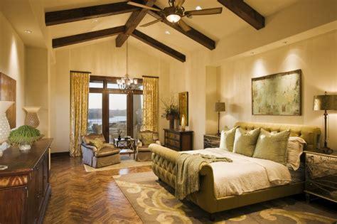 rough hollow master suite mediterranean bedroom austin  cornerstone architects